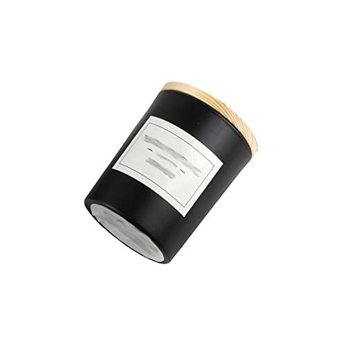ZXPPL Ambiente romántico Europeo Aroma Vela de Soja Regalo de cumpleaños de Vidrio con candelabro de Mano para no Fumadores con Tapa de Madera (5 Palos)