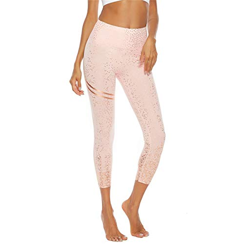 Women's Tummy Control Printed Tight Leggings,High Waisted Yoga Leggings with Media Pocket Solid Workout Running Sports Gym Fitness Pants Variety of Patterns Leisure Summer 2020 XL