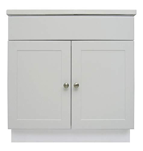 Design House 541649 Vanity Combo Oak Vanity Bathroom Cabinet with 2-Doors, 31-Inch -