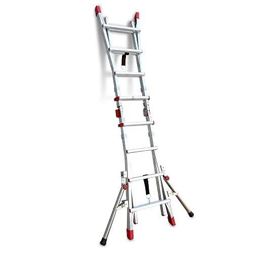 Faraone - Accesorio para Escaleras - Pareja de Estabilizadores STA.TELES - 70 x 6,6 x 12 cm - Ideal para Escaleras Telescópicas - Garantizan la Máxima Estabilidad