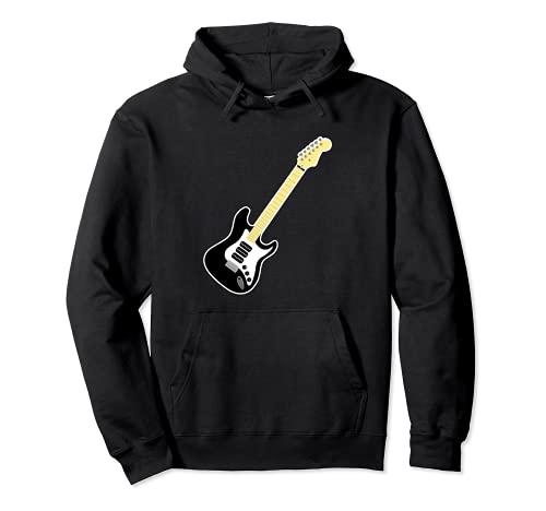 Guitarra Strat Player Hard Rock Heavy Metal Banda de música Sudadera con Capucha