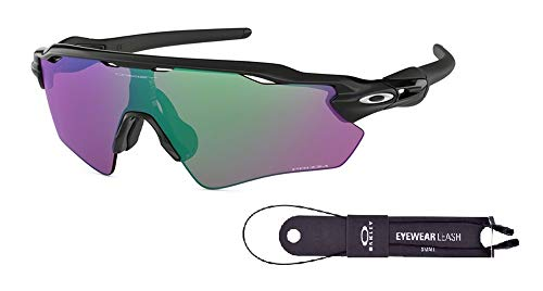 Oakley Radar EV Path OO9208 920844 38M Polished Black/Prizm Golf Sunglasses For Men+BUNDLE with Oakley Accessory Leash Kit