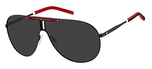 Tommy Hilfiger Gafas de Sol TH 1801/S Matte Black/Grey 67/7/135 hombre