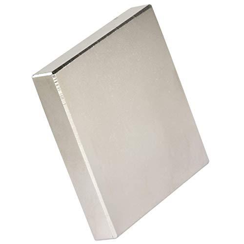 Neodym Magnet N52 160 Kg - Neodym Magnete Extra Stark - Super Magneten Quader Groß - 60x60x10 mm Power Block Platte