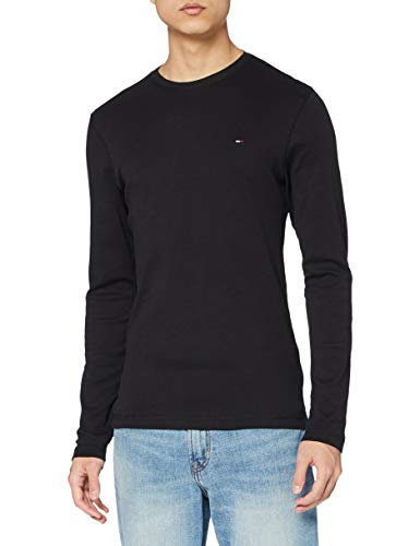 Tommy Hilfiger Original Rib Camisa, Negro (Tommy Black 078),