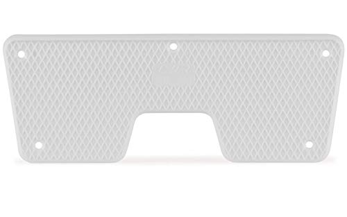 wellenshop Heckschutzplatte für Außenborder Kunststoff Platte Schutz Boot Schlauchboot Spiegel Heck Farbe Weiß, Größe 270x98mm