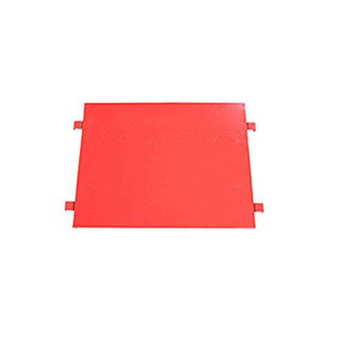 カゴ台車 カゴ車 オプション 棚板 中間棚板 W95×D80×H170(cm)台車用(1枚) (レッド)