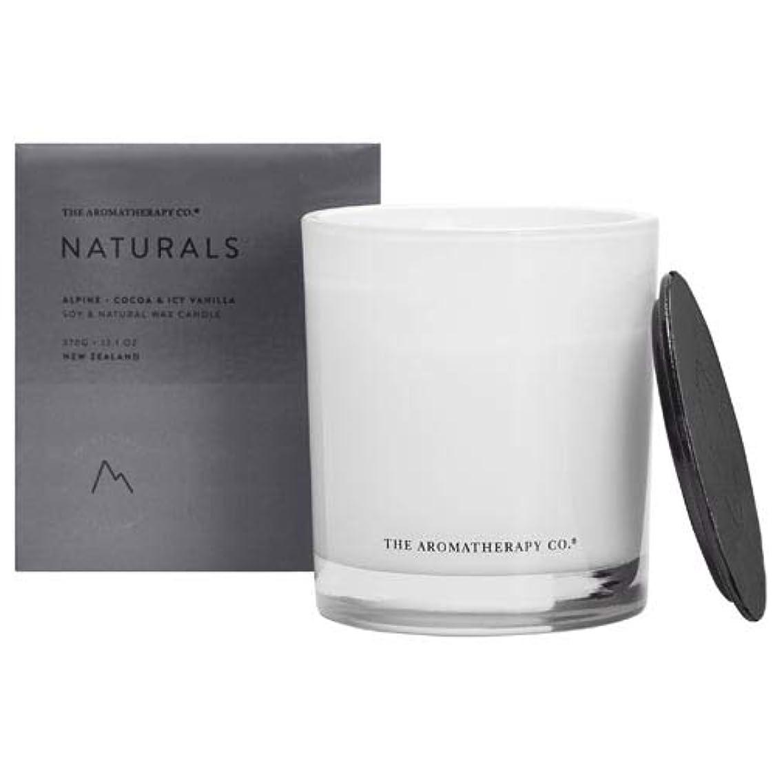 ほこり海洋の不可能なアロマセラピーカンパニー(Aromatherapy Company) new NATURALS ナチュラルズ Candle キャンドル Alpine アルパイン(山) Cocoa & Icy Vanilla ココア&アイシーバニラ
