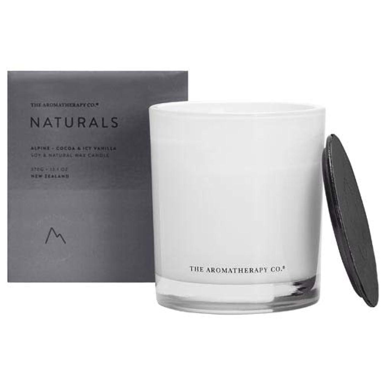 はぁ給料突然のアロマセラピーカンパニー(Aromatherapy Company) new NATURALS ナチュラルズ Candle キャンドル Alpine アルパイン(山) Cocoa & Icy Vanilla ココア&アイシーバニラ