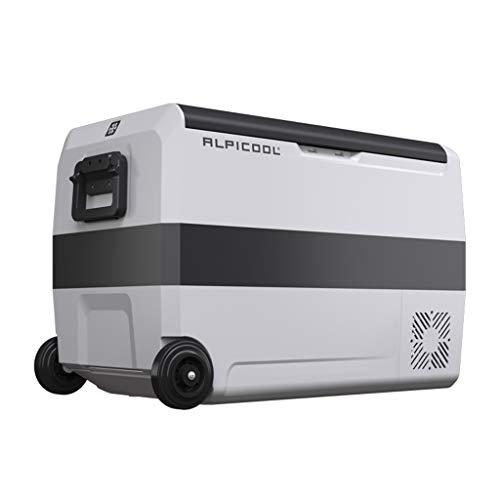LS 50 litros Nevera De Compresor Portátil Refrigerador del Congelador del Uso del Coche Mini Refrigerador De Uso Doméstico con Ruedas...
