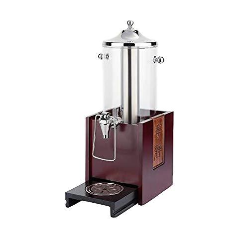 Dispensadores de Barril de Cerveza Dispensador de la cerveza con base de madera dispensador de la bebida de hielo Core Compartimiento 57cm alto Para Refrescos o Bebidas ( Color : Red , Size : 5L )