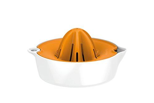 Fiskars Exprimidor con depósito, Diámetro: 11,9 cm, Plástico, Functional Form, Blanco/Naranja, 1016125