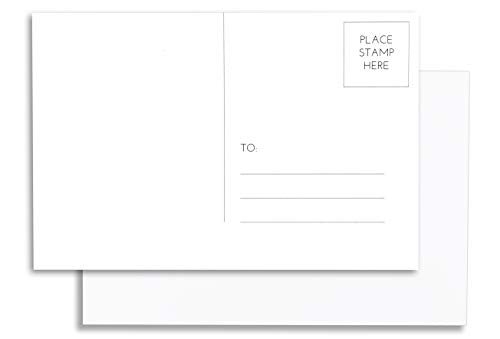 Home Advantage 50 Pack Blank Plain White 4x6 Postcards with Mailing Side