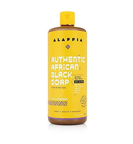 Product Image of the Alaffia Authentic African Black Soap (Wild Lavender, 16 Fl Oz)