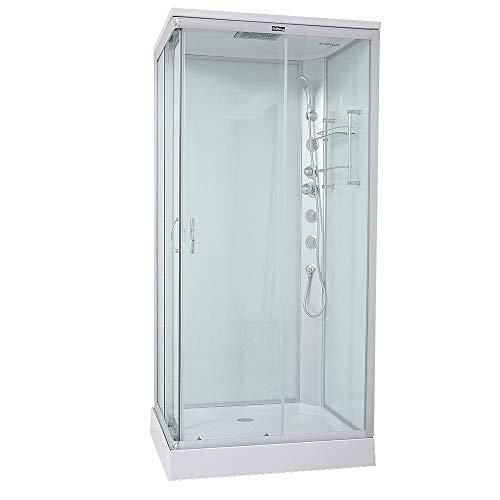 Home Deluxe - Duschkabine - Venus L - Maße: 100 x 80 x 227 cm - inkl. komplettem Zubehör