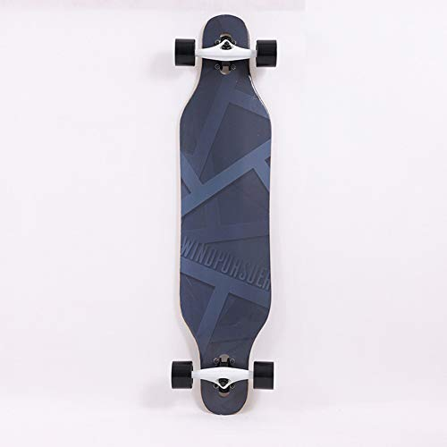 Damai Skateboard Komplett-Board Mit Tollen Features Für Einsteiger, Konkave Deckform Mit Doppel-Kick, 7-Lagiges Ahornholz, ABEC5 Kugellager, Verschiedene Deck-Designs Wählbar,B