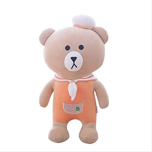Ylout Cartoon Plush Toy 50 Cm, Down Cotton Sailor Bear Navy Big Bear Pillow Cushion Doll