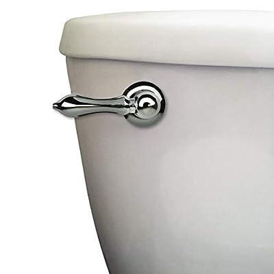 DANCO Decorative Toilet Tank Lever, Right Front/Side Mount Handle Replacement, Chrome Handle (89447A)