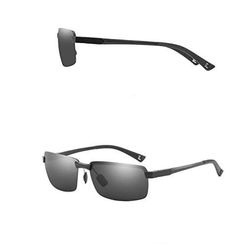LLKK Gafas de Sol,Gafas polarizadas de conducción de día y de Noche para Hombres,protección UV,Tres Colores (1 Paquete)