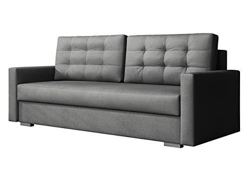 Mirjan24 Schlafsofa Selvio, Sofa Couch mit Schlaffunktion, Bettkasten, Bettsofa, Farbauswahl, Wohnzimmer, Modern Still (Enzo 163)