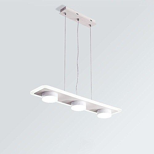 Lampe suspension LED 4 flammes ronde plaque rectangulaire Hängeleuchte lampe moderne de suspension de la lampe au plafond d'éclairage à lampe suspension LED SMD 36W fer et le panneau acrylique 70cm * 17cm