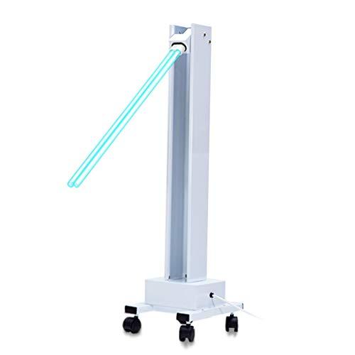 XF - Lámpara de desinfección por radiación ultravioleta, tubo de cuarzo, lámpara que puede girar 180°, alta potencia 65 W, diseño de rueda universal, calendario 0-120 min