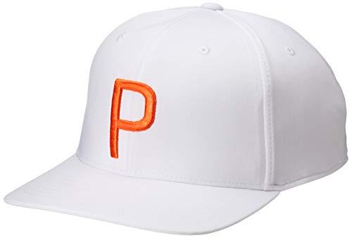 PUMA Casquette Blanche Orange P SNAPBACK