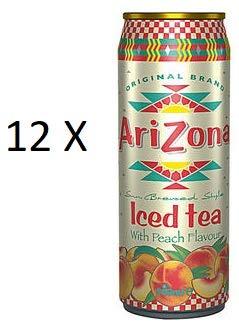Arizona AriZona Iced Tea With Peach 12 x 500ml Dosen (inkl. 3,00 Euro EINWEG Pfand)