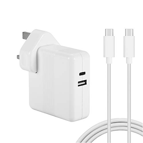 61W USB-C Power Adapter Compatible with Macbook Pro 13 inch With One USB Port With USB-C to USB-C Cable …