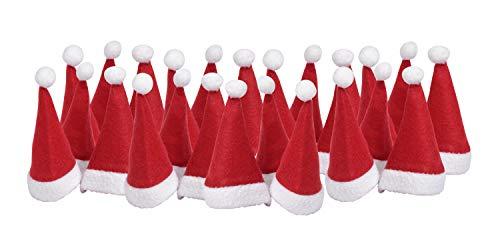 24x VBS Großpackung Weihnachtsmütze für 5cm Nikolausmütze Puppenmütze Weihnachten-Mütze Adventskalender