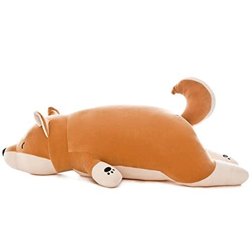 KUNYI Shiba inu Felpa Peluche Perro Peluche Almohada Abrazando Almohada para Dormir cómodo cojín Suave Peluche Juguete (Size : 55cm)