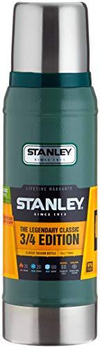 Stanley Legendary Classic Vakuum-Thermosflasche, 0.47 Liter, Hammertone Green, 18/8 Stainless Edelstahl, Integrierter Thermobecher, Doppelwandige Isolierung Isolierflasche Isolierkanne Kaffeekanne