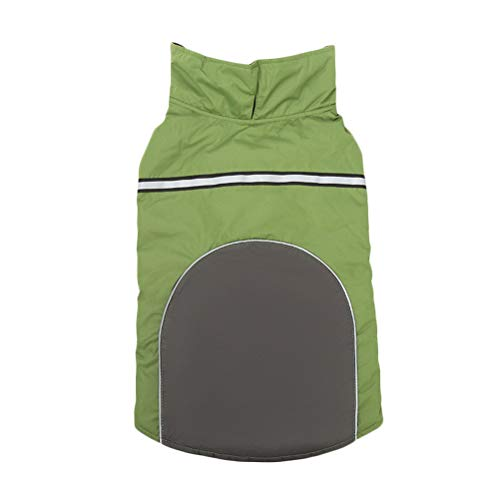 VILLCASE Mascota doble cara para llevar chaqueta de perro ropa de moda traje de cachorro impermeable mascota al aire libre deportes abrigo (tamao verde XXL) - Suministros de disfraz para perro