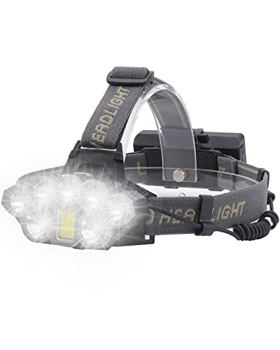Head Torch Rechargeable, Ultra Bright 18000 Lumens COB 6 Lighting Modes...