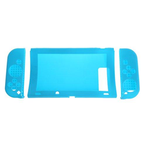 Coque de protection antidérapante en silicone pour Nintendo Switch bleu
