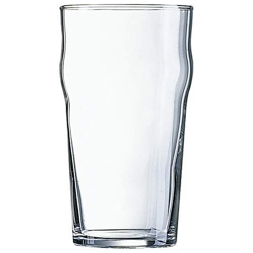 Set 48 vasos de vidrio resistente CERVEZA T 34CL NONIC ARC 72X127