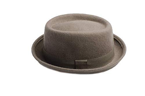 Accessoryo Accessoryo - Männer/Damen 57cm grau Wolle Schweinekuchen Hut