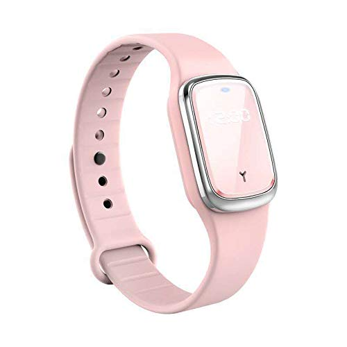 Ultrasonic Mosquito Repellent Bracelet, Zastone Rechargeable Smart Electronic Mosquito Repellent Watch Wristband Band for Adult Children with Clock Function (Pink)