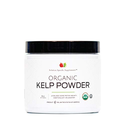 Organic Kelp Powder Supplement - Bulk Raw, Dry, Pure Sea Kelp Seaweed Powder 8oz 75 Serving Thyroid, Iodine, & Digestion