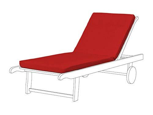 Cojín reclinable para silla de jardín, Resol Master Chair Pad de repuesto para tumbonas Marina (paquete de 3, rojo)