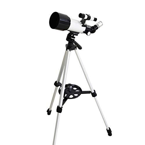 Tochange Telescopio Monocular Espacio 150X Profesional Astronómico para Principiantes Adultos O Los Niños 70Mm Telescopio Refractor con Trípode Ocular De Visor para La Exploración Espacial