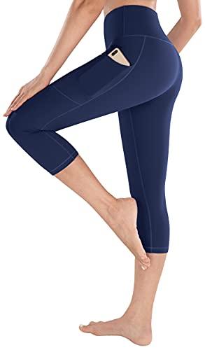 HOFI Women's High Waist Capri Yoga Pants with Pockets Tummy Control Workout Running