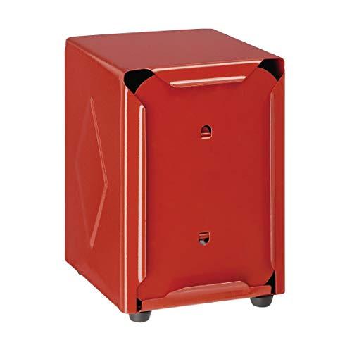 Olympia CN752 - Dispensador de servilletas (acero inoxidable), color rojo