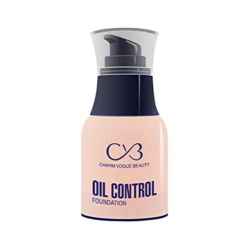 CVB C33 Oil Control Foundation for Full Face Coverage Non-Acnegenic Shine Control for Oily Skin (01, 50g)
