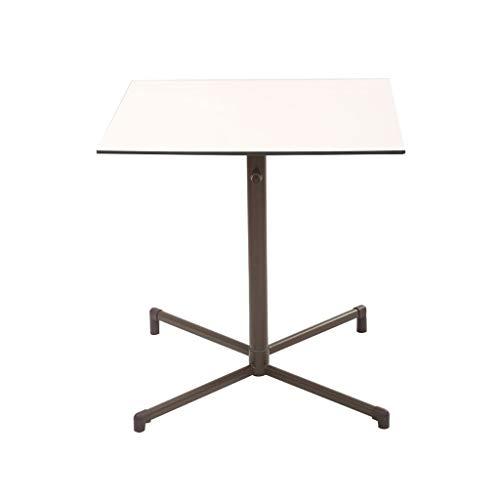 YShop Table de Pliage de café carré en métal for Table de Salle à Manger de lit de Salon Table d'appoint Pliante extérieure avec Bureau de Balcon intérieur