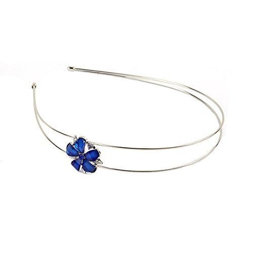Haarschmuck Kopfschmuck Haarreifen Haarreif Haarring Ring Hair Blüte Blau