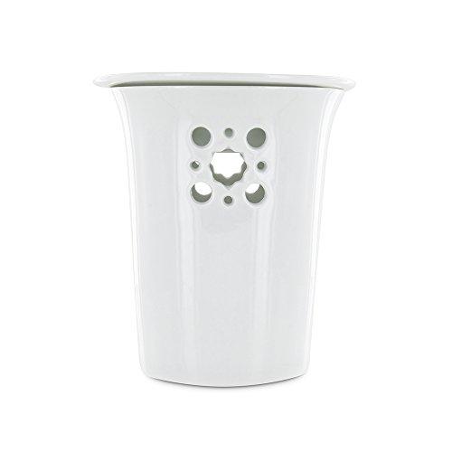 Aromandise PEGEO5 Diffuseur Porcelaine, Blanc, 11 x 11 x 13 cm