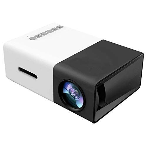 SANJIANG Proyector Mini Proyector Multifuncional De Video HD 1080P A Todo Color con Altavoces para Home Cinema Theater Video Movies Children Present Party Game,Black