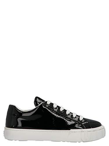 Miu Miu Luxury Fashion Damen 5E187DF0053LBNF0002 Schwarz Lackleder Sneakers | Jahreszeit Permanent