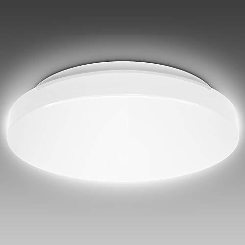 B.K.Licht 18 Watt LED Badezimmerlampe I IP44 Spritzwasserschutz I 4000K neutralweiße Lichtfarbe I 1800lm Helligkeit I Ø330x75mm I LED Deckenleuchte I Badlampe I LED Deckenlampe I Größe: L I Ø33cm